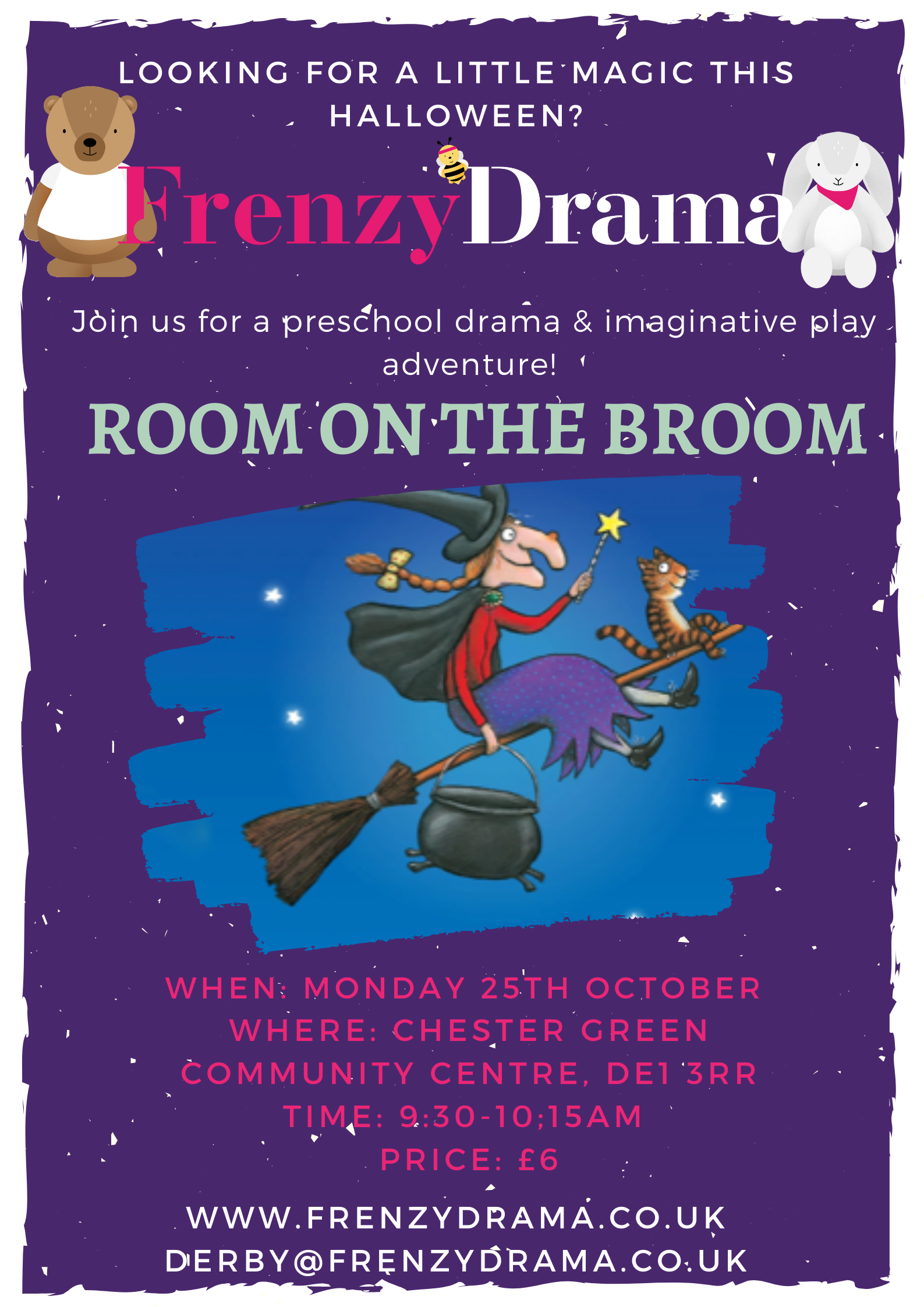 Room on the Broom with Frenzy Drama - Derby Days Out