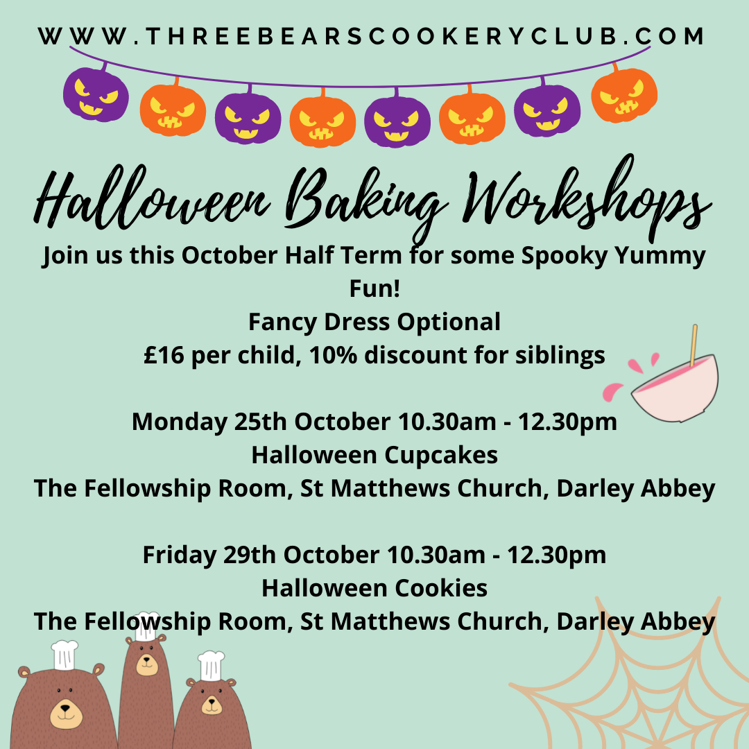 Three Bears Cookery Half Term Halloween Workshops - Derby Days Out