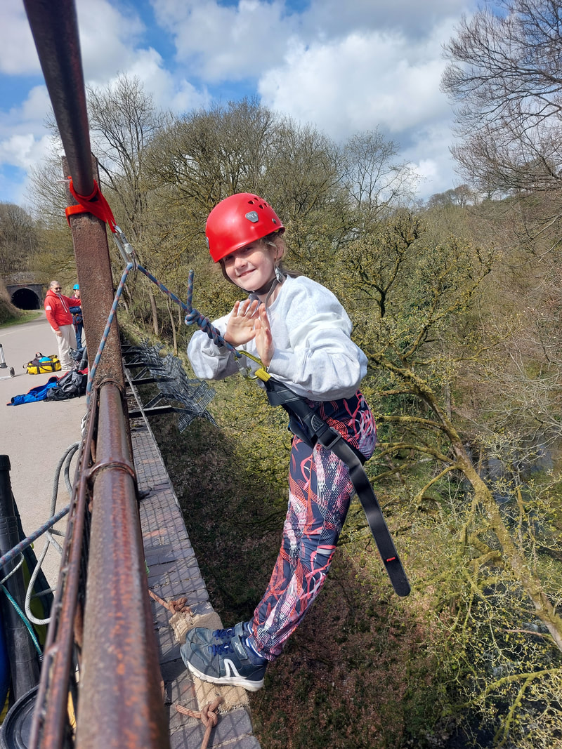 Abeseiling off Millers Dale Bridge - Derby Days Out