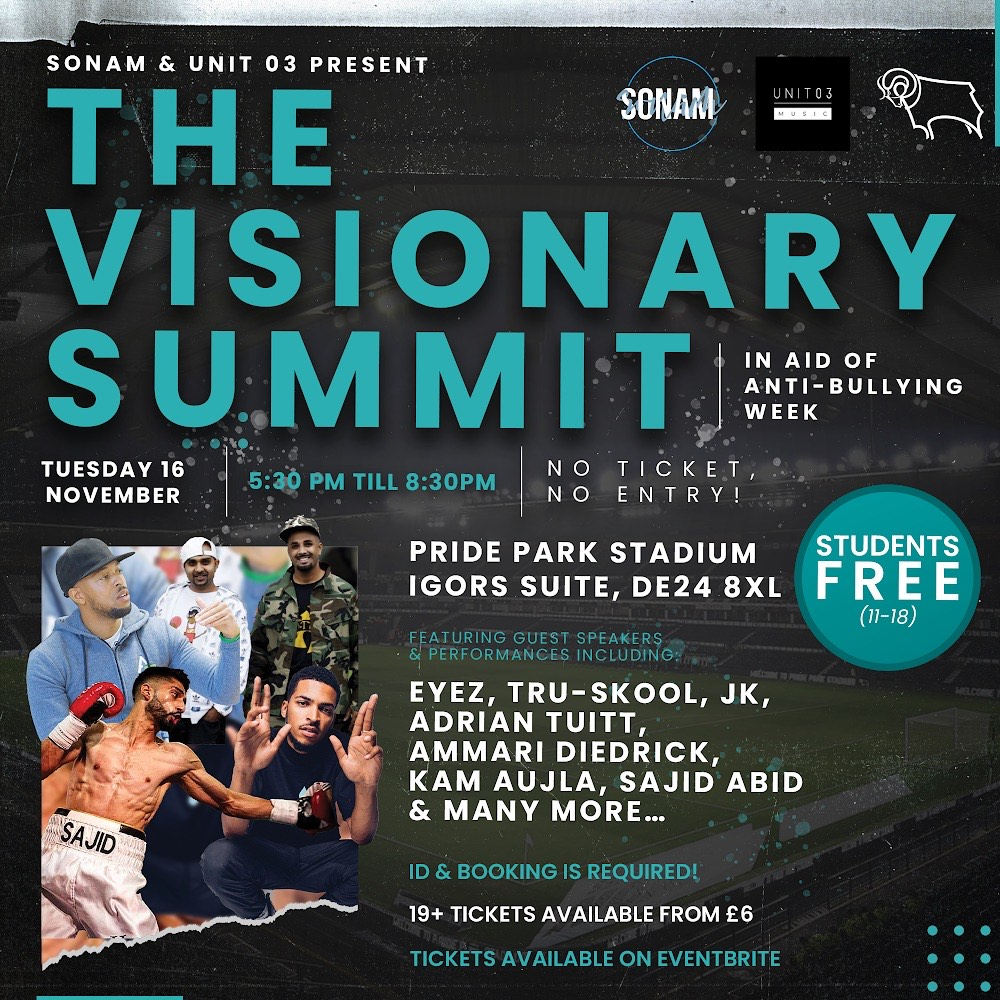 The Visionary Summit - in aid of Anti-Bullying Week - Derby Days Out