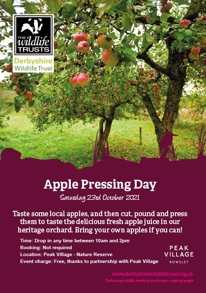 Derbyshire Wildlife Trust - Apple Pressing Day - Derby Days Out
